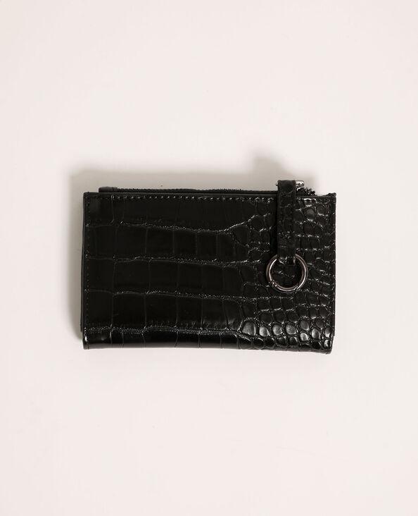 Kleine portefeuille met krokodilpatroon zwart - Pimkie