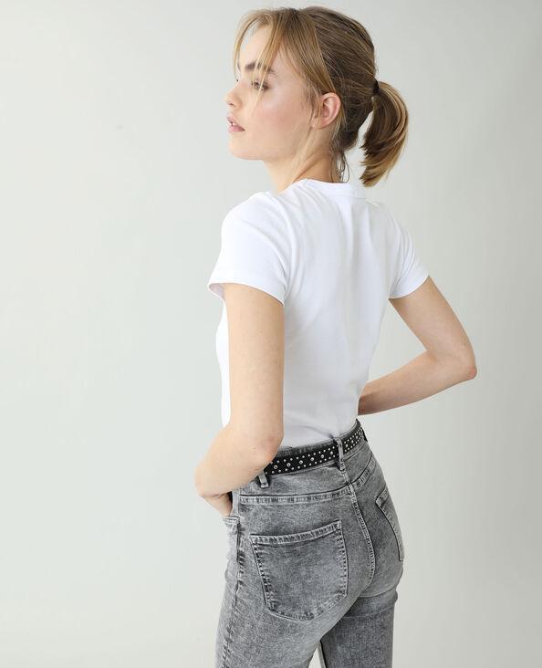 Basic T-shirt wit - Pimkie