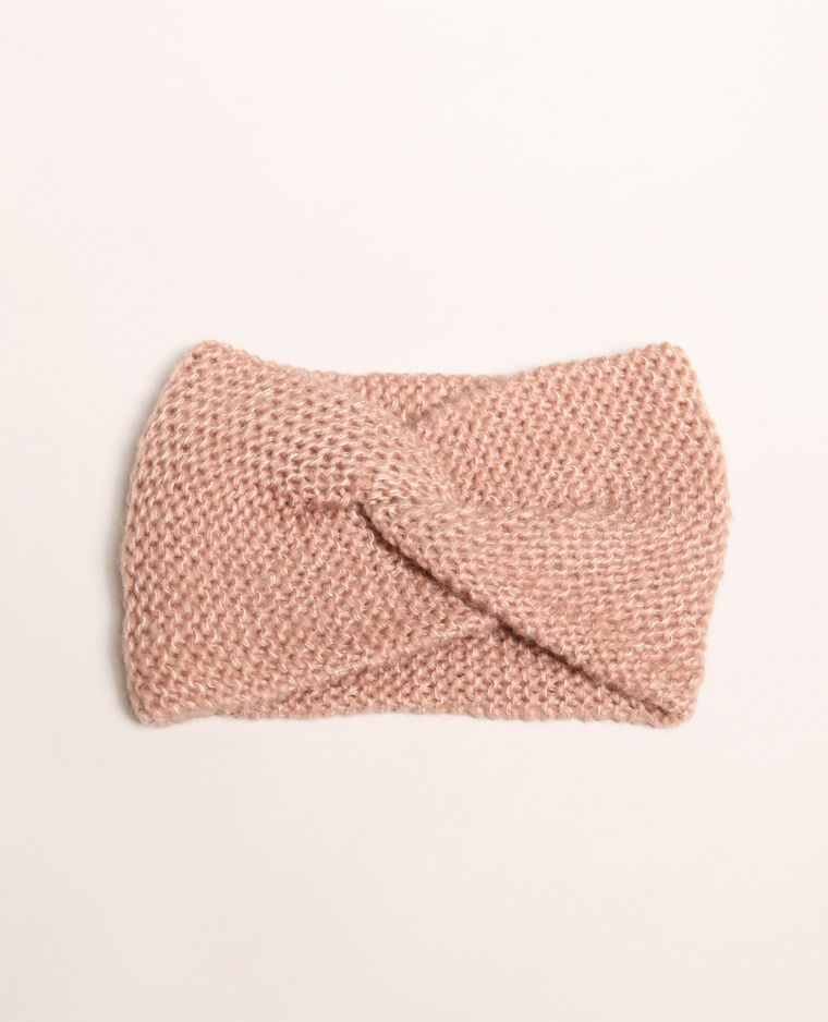 Headband twisté rose