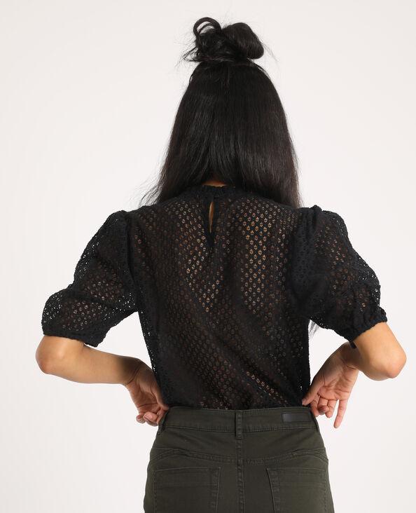 Kanten blouse zwart