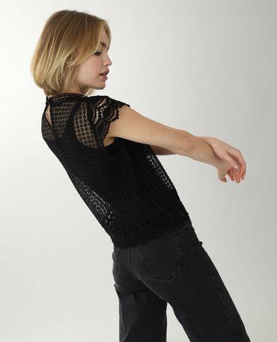 Shirt van kant zwart