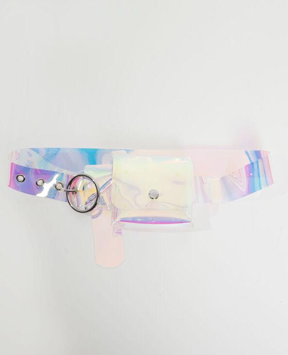 Ceinture pochette hologramme gris - Pimkie