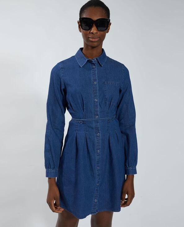 Robe chemise en jean bleu - Pimkie