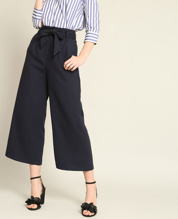 Soepele broek marineblauw