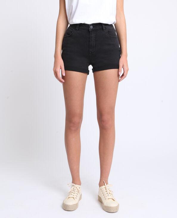 Short en jean noir