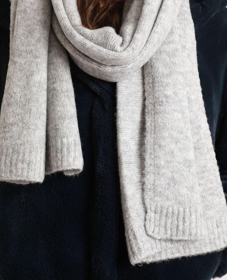 Echarpe chaude gris chiné