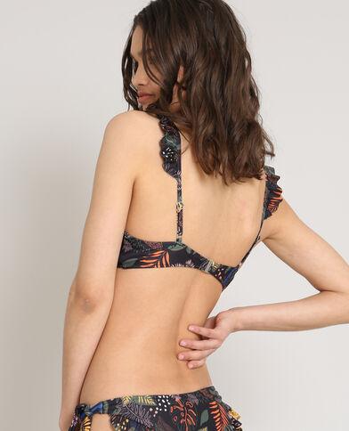 Driehoekige bikinitop zwart