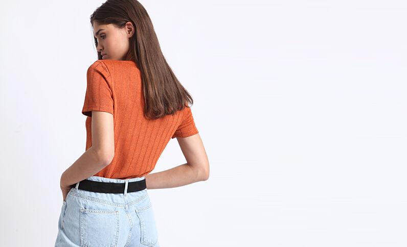 Schitterend T-shirt oranje