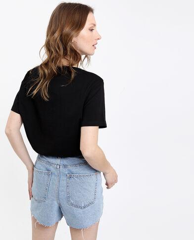 T-shirt Cuore noir + rose