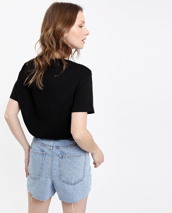 Cuore T-shirt zwart + rosa