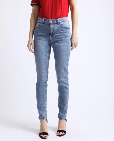 Push-up jeans met middelhoge taille verwassen blauw