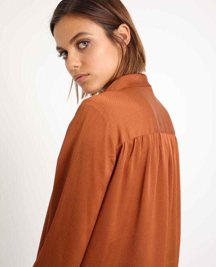 Chemise à nœud marron