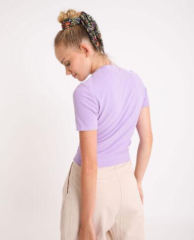 Zacht T-shirt vioolpaars - Pimkie