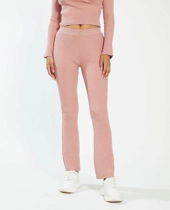 Geribde broek roze - Pimkie