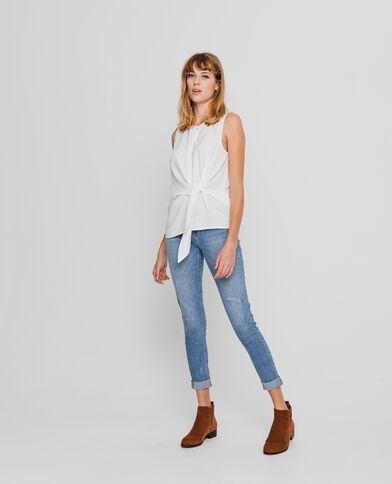 Soepelvallende blouse gebroken wit