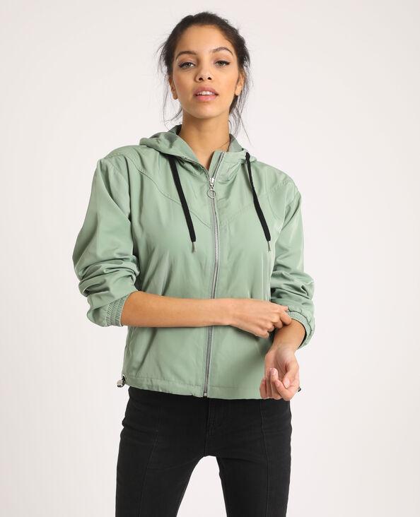 Veste à capuche vert