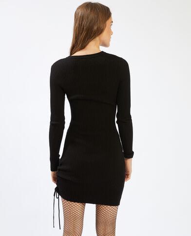 Trui-jurk met lange mouwen zwart - Pimkie
