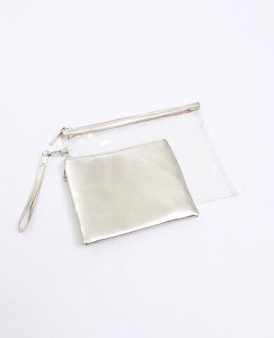 Set van 2 enveloptasjes goudkleurig
