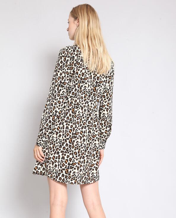 Jurk met luipaardprint bruin