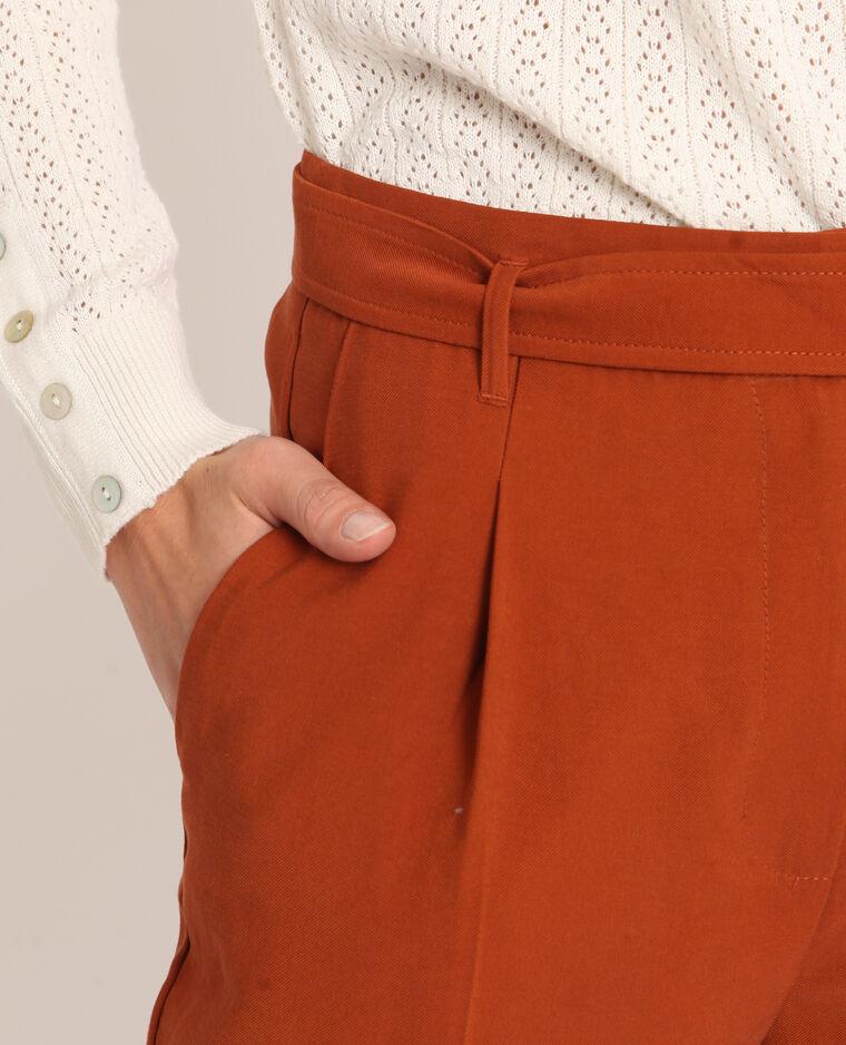 Pantalon fluide rouille