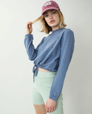 Korte sweater blauw - Pimkie