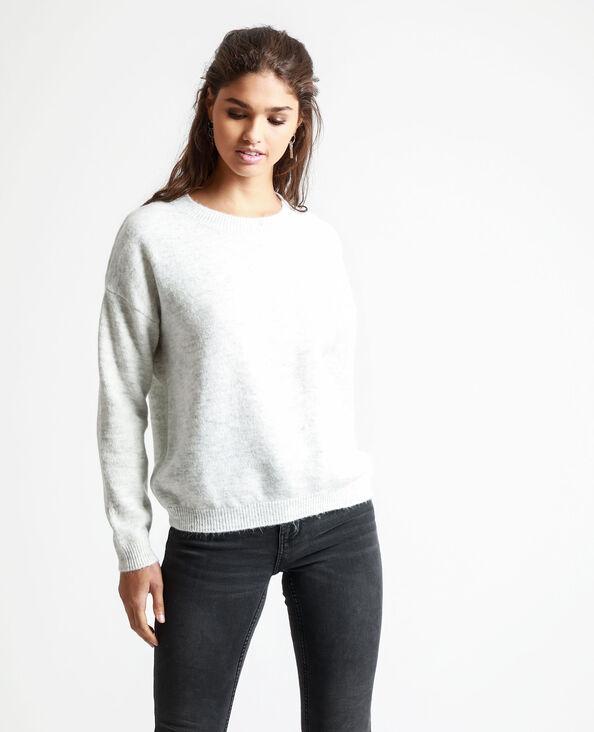 Effen trui gemêleerd grijs