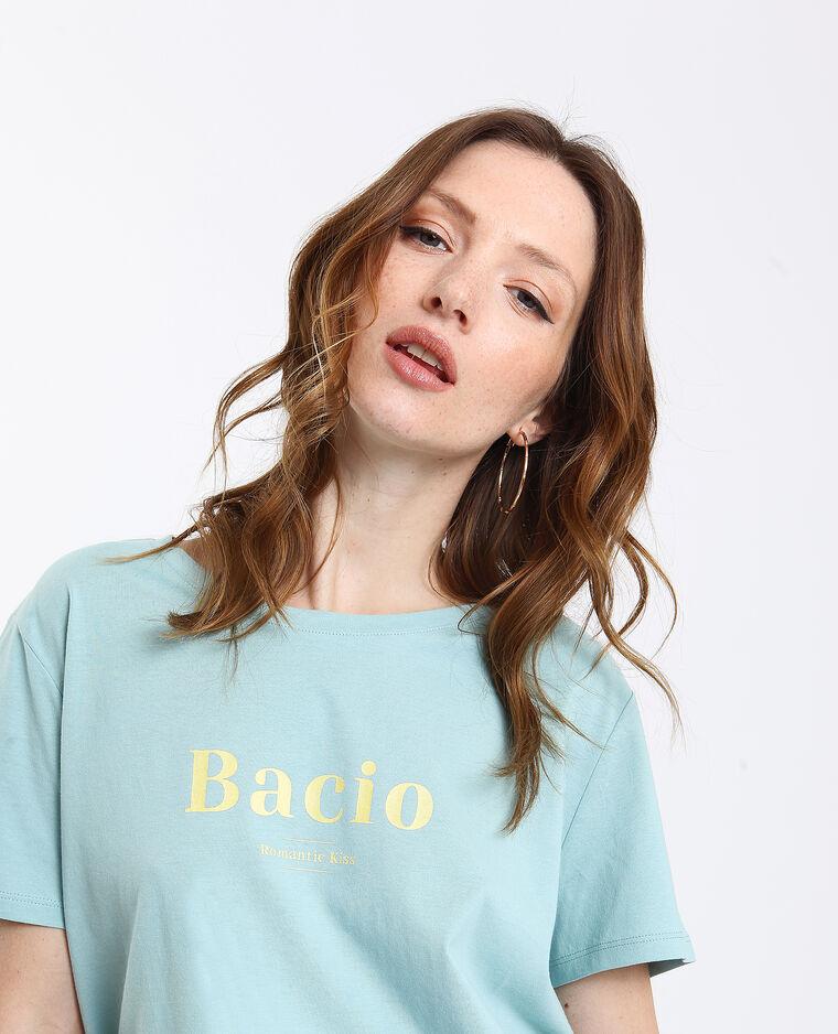 Bacio T-shirt watergroen