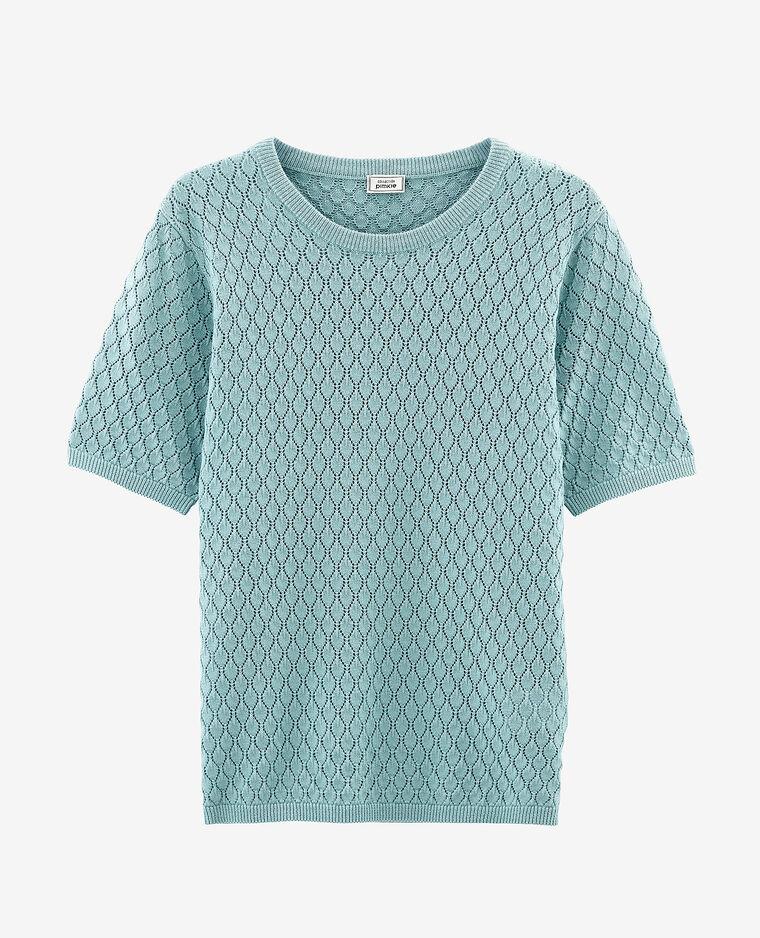 T-shirt ajouré vert d'eau