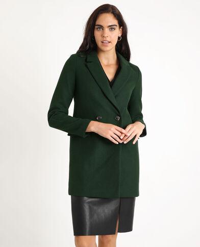 Wollen jas groen