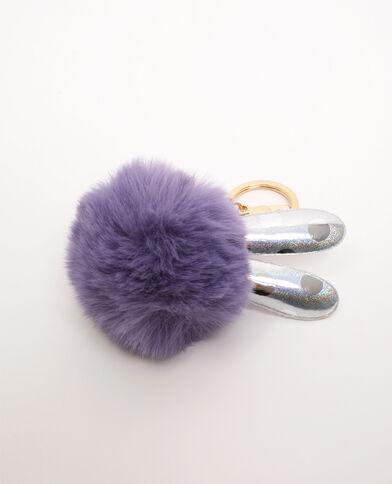 Porte-clés lapin violet