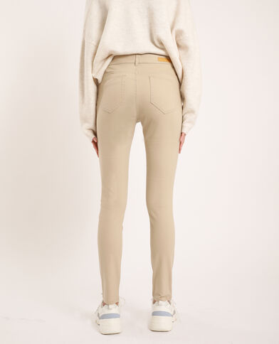 Push-up skinny mid waist beige
