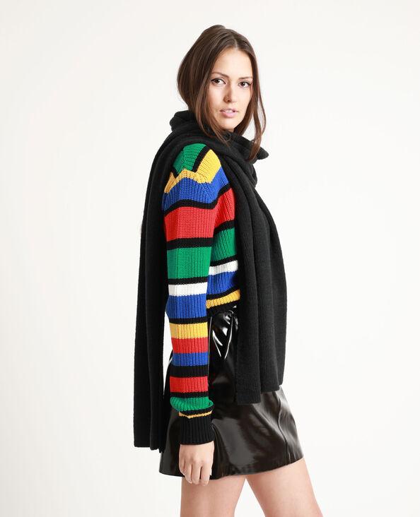 Lange sjaal zwart