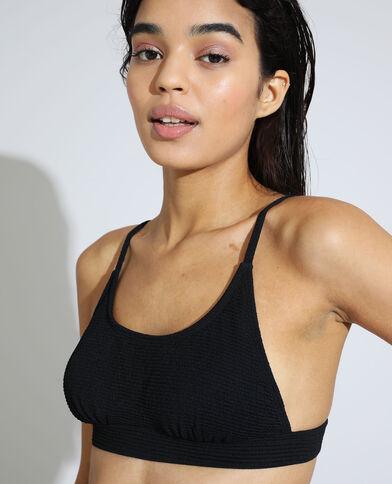Sportieve bikinitop met textuur zwart - Pimkie