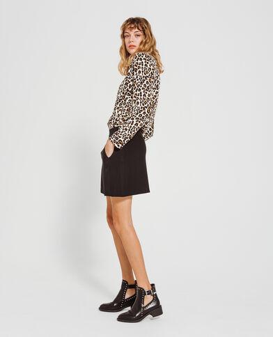 Chemisier léopard noir
