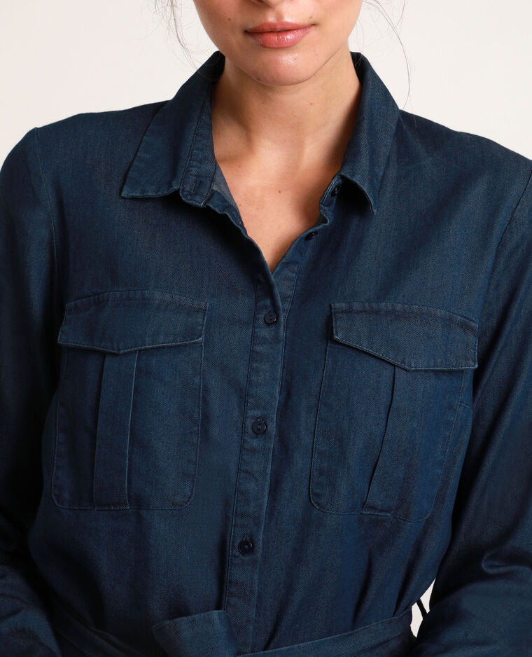 Hemdjurk van jeans blauw