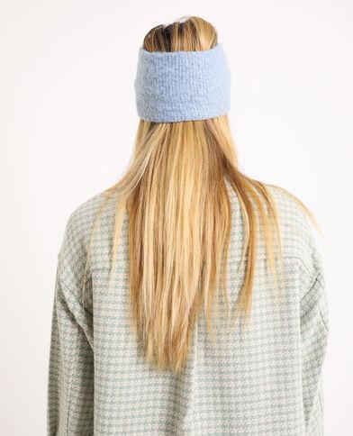 Haarband van tricot hemelsblauw