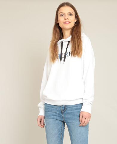 Sweater met kap wit