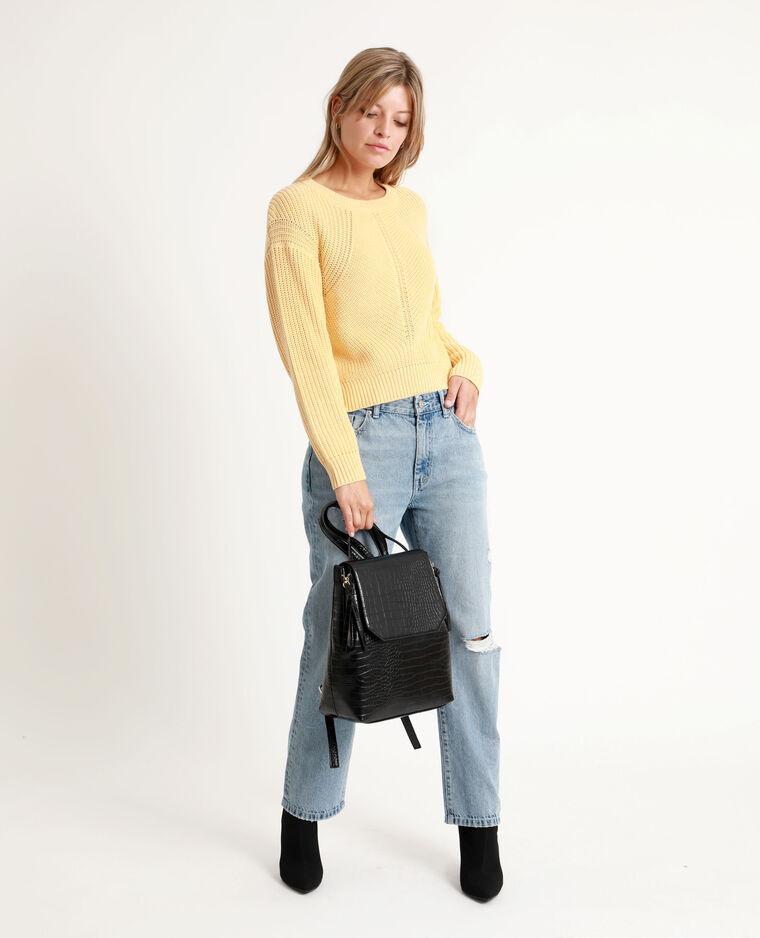 Jean straight mid waist bleu