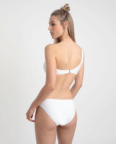 Haut de bikini asymétrique blanc