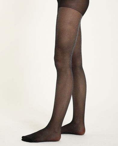 Collants lurex noir