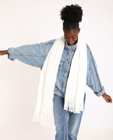 Sjaal met franjes wit