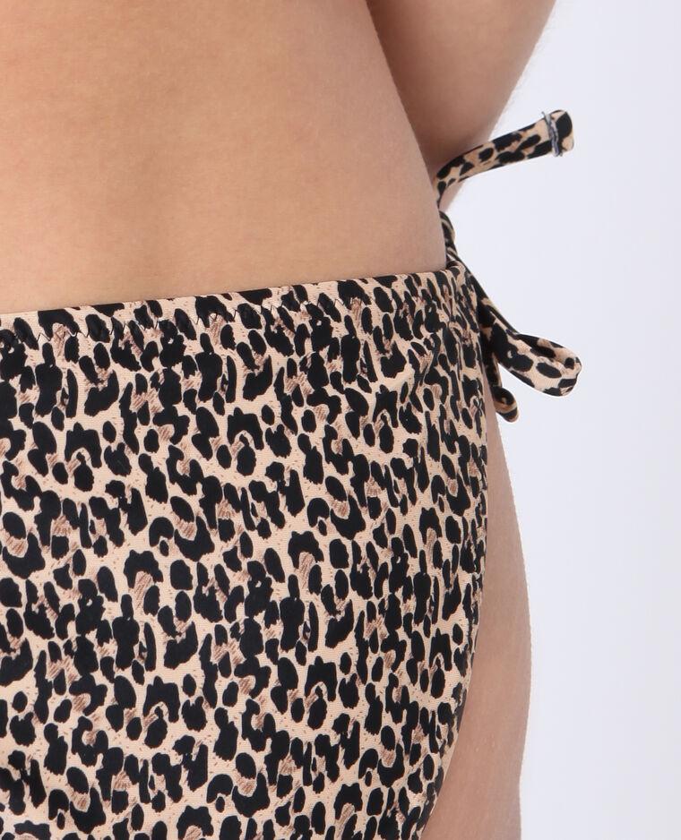 Bas de bikini léopard marron
