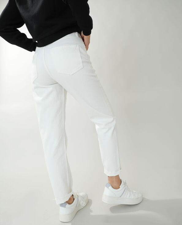 Straight-fit jeans met hoge taille wit - Pimkie