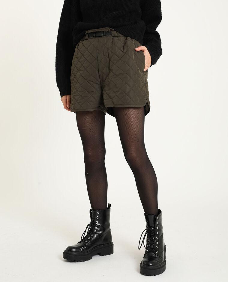 Short matelassé kaki