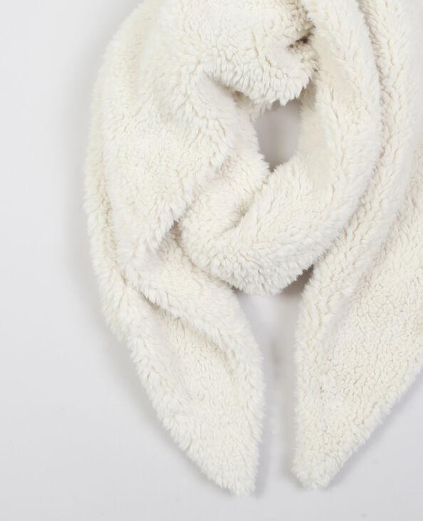 Sjaal van nepbont gebroken wit
