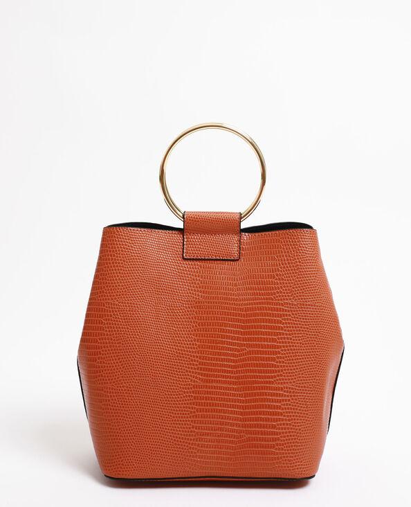 Bucket bag oranje