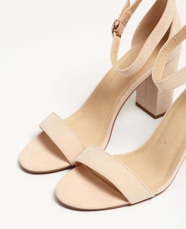 Nude sandalen poederroze