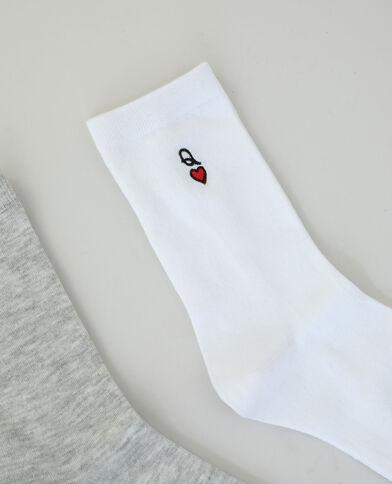 Set van 2 paar sokken grijs