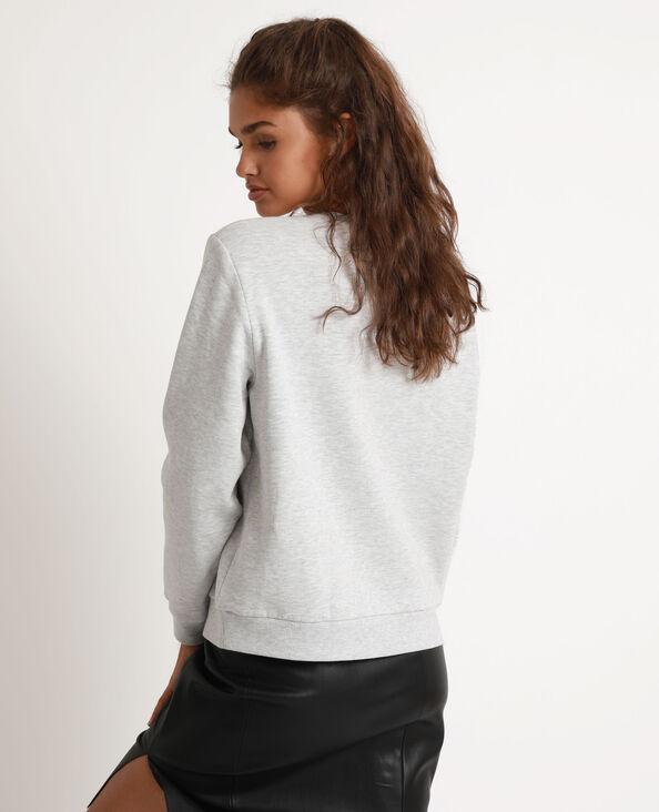 Sweater met print grijs