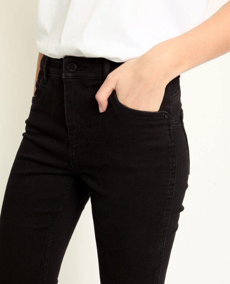 Jean push up mid waist noir
